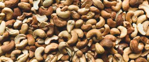 Cashews photographed from above
