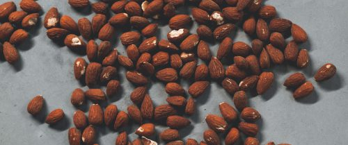 Almonds photographed from above